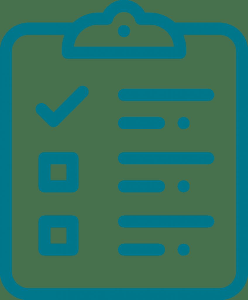Graphic of a checklist.